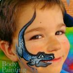Dinosaur face paint