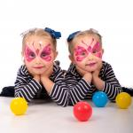 Twin butterfly facepainting