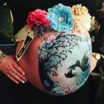 Pregnancy bump painting