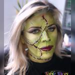 Face painting female Frankenstein