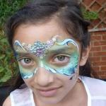 Carnival mask face paint